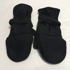 Women's black Isotoner fingerless gloves/mittens